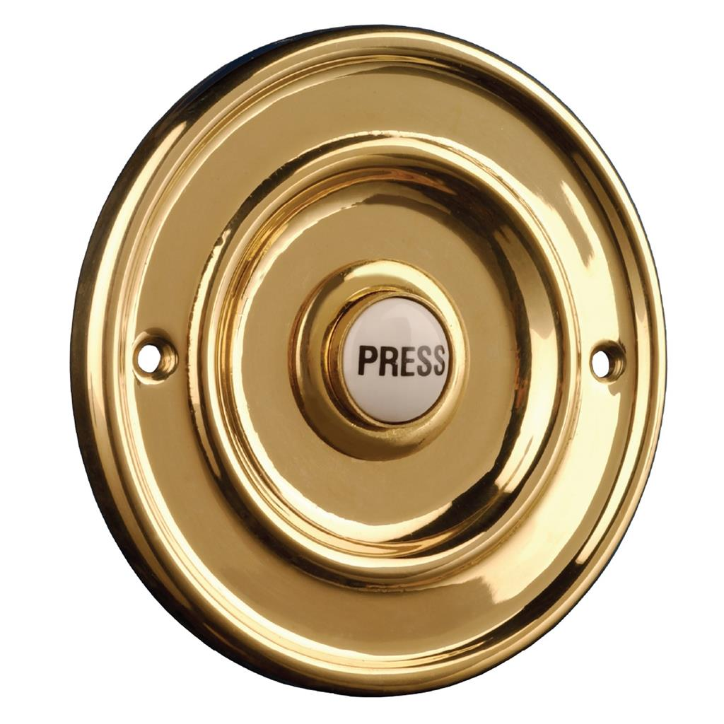 Byron 2201//5 Wired Door Bell Push Engraved Please Ring