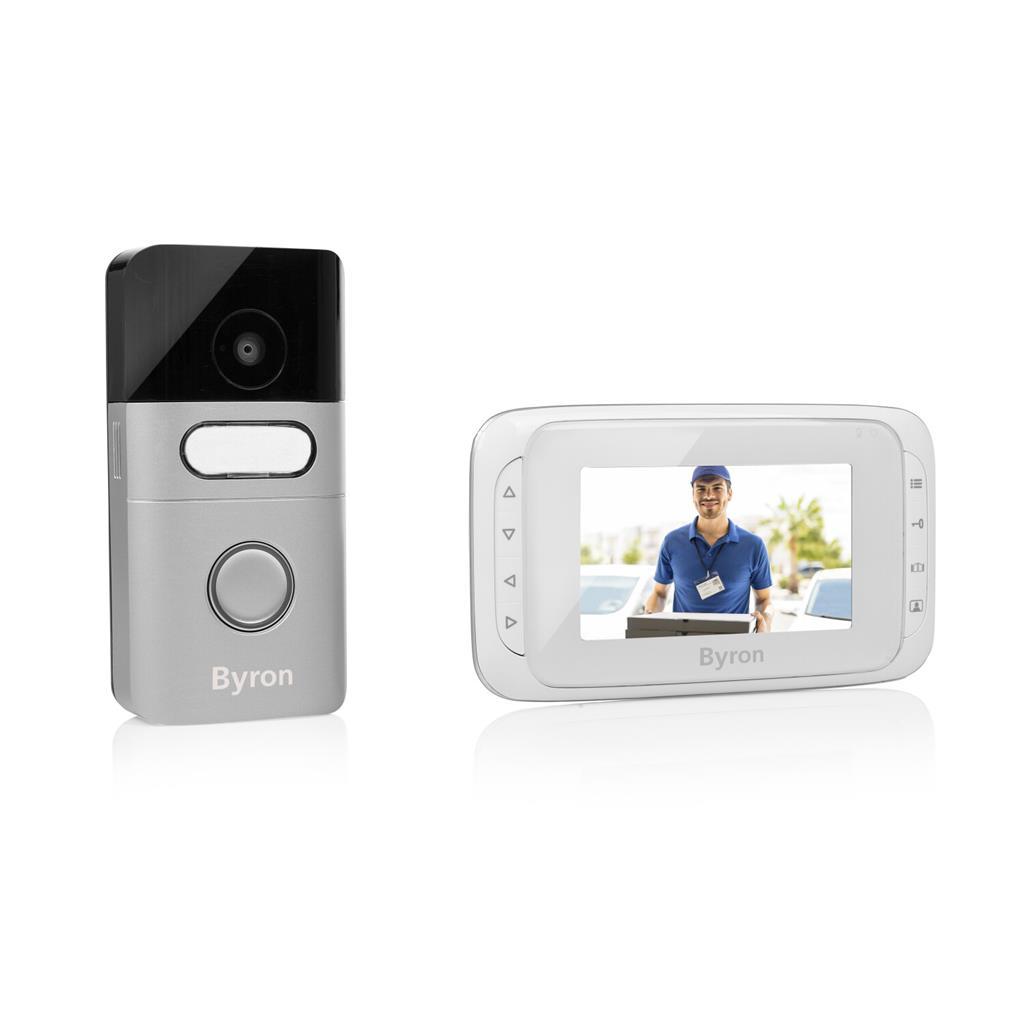 Byron Türklingel mit Kamera Monitor Klingel Gegensprechanlage Türsprechanlage